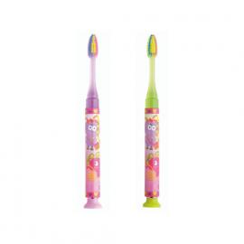 GUM Promo Junior Light Up 5+ Years, Παιδική Οδοντόβουρτσα Ροζ και Κίτρινη, 2τμχ [1+1 Δώρο]