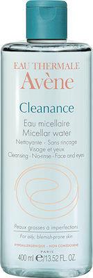 Avene Cleanance Nettoyante, Νερό Καθαρισμού Προσώπου & Ματιών για Λιπαρό Δέρμα / Με Τάση Ακμής, 400ml