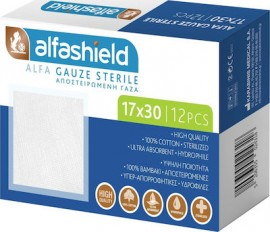 Alfashield Alfa Gauze Αποστειρωμένες γάζες 17x30cm, 12 τεμ