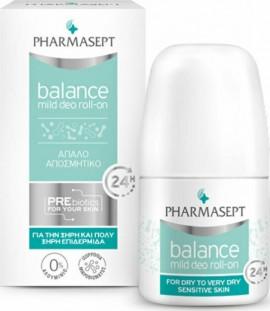 Pharmasept Balance Mild Deo Roll-On Απαλό Αποσμητικό για Ευαίσθητες Επιδερμίδες, 50ml