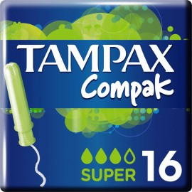 Tampax Compak Super, Ταμπόν για Αυξημένη Ροή 16τμχ