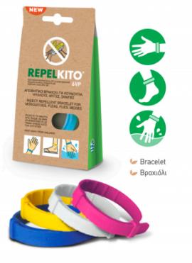 Ripelito 6VP Απωθητικό Βραχιόλι για Κουνούπια Ροζ 1τμχ.