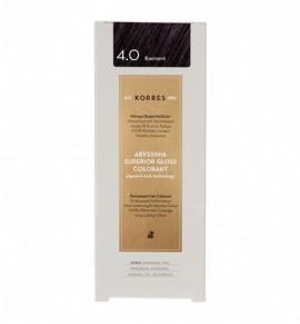 Korres Abyssinia Superior Gloss Colorant Μόνιμη Βαφή Μαλλιών 4.0 Καστανό 50ml