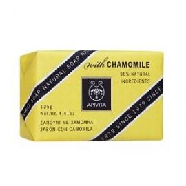 Apivita Natural Soap Camomille Καταπραϋντικό Σαπούνι για Πρόσωπο & Σώμα με Χαμομήλι, 125gr