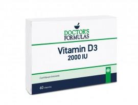 Doctors Formula Vitamin D3 2000IU Συμπλήρωμα Διατροφής D3 για τα Οστά, τους Μύες & τα Δόντια, 60 μαλακές κάψουλες