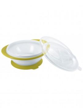 Nuk Easy Learning Bowl, Μπολ Φαγητού με 2 Καπάκια 6m+ Κίτρινο