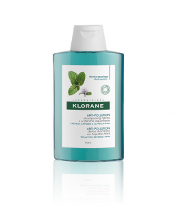 Klorane Anti-Pollution Detox Shampoo with Aquatic Mint Σαμπουάν Αποτοξίνωσης, 200ml