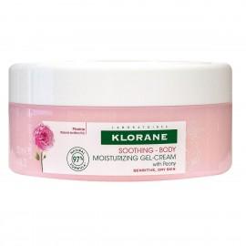 Klorane Body Soothing Moisturizing Gel-Cream Peony Ενυδατική Κρέμα Σώματος, 200ml