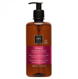 Apivita Τονωτικό Σαμπουάν Κατά της Τριχόπτωσης για Γυναίκες Hippophae TC & Δάφνη, Tonic Shampoo Hippophae TC 500ml