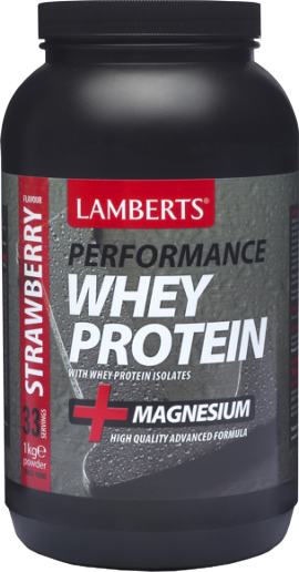 LAMBERTS Performance Whey Protein - γεύση ΦΡΑΟΥΛΑ 1000gr