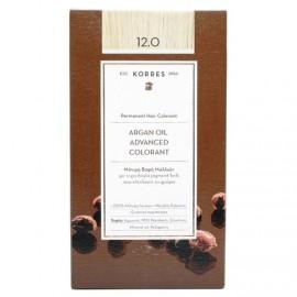 Korres Argan Oil Advanced Colorant Μόνιμη Βαφή Μαλλιών 12.0 Ξανθό 50ml