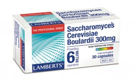Lamberts Saccharomyces Boulardii 300mg Συμπλήρωμα 6 δις Προβιοτικών, 30caps