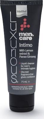 Intermed Luxurious Mens Care Intimo With Lemon Extract & Panax Ginseng Υγρό Καθαριστικό Για Τη Φροντίδα Της Γενετήσιας Περιοχής Του Άντρα 75ml