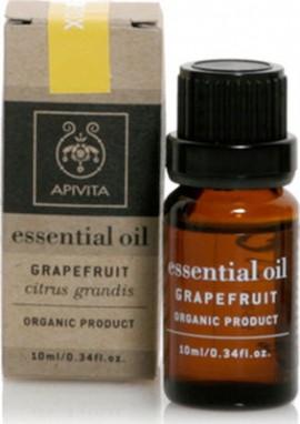 Apivita Essential Oil Grapefruit Αιθέριο Έλαιο Γκρέϊπφρουτ, 10ml