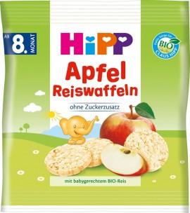 Hipp Παιδικά Βιολογικά Ρυζογκοφρετάκια Μήλου Από τον 8ο Μήνα (15τμχ), 30gr