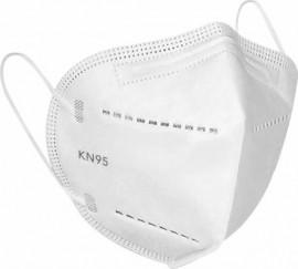 Μάσκα FFP2 N95 NR, Χωρίς Βαλβίδα, Disposable Face Mask Λευκή, 5 τεμάχια, Syndesmos