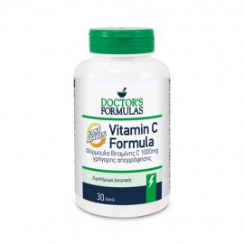 Doctors Formula Vitamin C Formula Fast Action, Συμπλήρωμα Διατροφής Βιταμίνης C 1000mg Γρήγορης Απορρόφησης, 30 δισκία