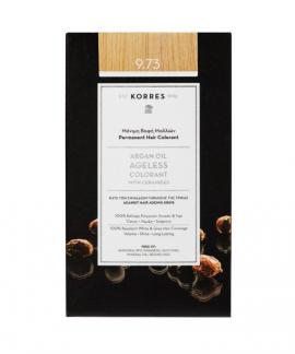 Korres Argan Oil Ageless Colorant Μόνιμη Βαφή Μαλλιών 9.73 Χρυσό Κάστανο 50ml