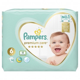 Pampers Premium Care No.6 (13+kg) Πάνες, 38 τεμάχια