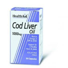 HEALTH AID COD LIVER OIL 1000MG VEGETARIAN CAPSULES 30S