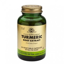 Solgar Turmeric Root Extract Συμπλήρωμα Διατροφής Κουρκουμά με Αντιοξειδωτική Δράση για Ομαλή Λειτουργία Πεπτικού Συστήματος, 60veg.caps