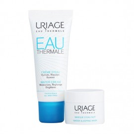 Uriage Set Eau Thermale Water Cream 40ml & ΔΩΡΟ Water Sleeping Night Mask 15ml