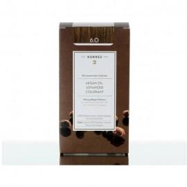 Korres Argan Oil Advanced Colorant Μόνιμη Βαφή Μαλλιών 6.0 Ξανθό Σκουρό Φυσικό 50ml