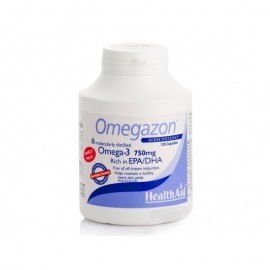 Health Aid Omegazon Ωμέγα 3 750 mg, Υγιή Καρδιά, Κυκλοφορικό & Εγκέφαλος Family, 120caps