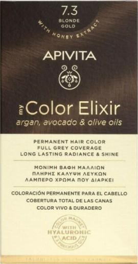 Apivita Βαφή Μαλλιών Μόνιμη 7.3 My Color Elixir Ξανθό Μελί