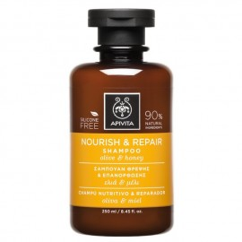 Apivita Σαμπουάν Θρέψης και Επανόρθωσης με Ελιά & Μέλι, Nourish & Repair Shampoo Olive &Honey, 250ml