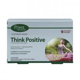 Power Health Platinum Range Συμπλήρωμα Διατροφής Νευρικού Συστήματος Think Positive 30Caps.