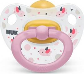 NUK Classic Happy Kids Πιπίλα Καουτσούκ 0-6m (10.726.022) Pink, 1 τμχ