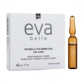 InterMed Αμπούλες για Εντατική Αντιμετώπιση Λεπτών Γραμμών & Ρυτίδων, Eva Belle Peptides & Hyaluronic Acid Anti-Wrinkle Ampoules, 5x2ml