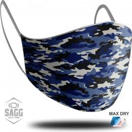 Unisex Μάσκα Προστασίας Army Blue, SAGG