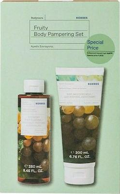 Korres Πακέτο Fruity Body Pampering Αμπέλι Σαντορίνης Αφρόλουτρο 250ml & Γαλάκτωμα Σώματος 200ml