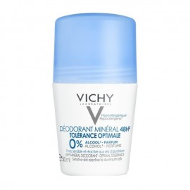 Vichy Deodorant Mineral 48H Roll On Tolerance Optimale Αποσμητικό Χωρίς Άρωμα για Ευαίσθητη & Αντιδραστική Επιδερμίδα, 50ml