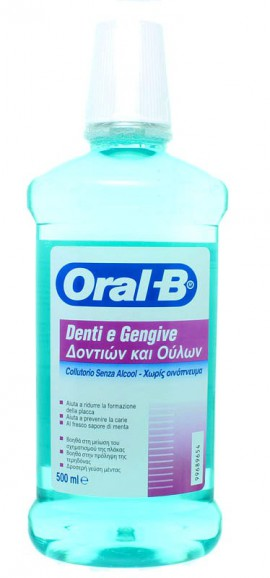 Oral-B Στοματικό Διάλυμα Δοντιών & Ούλων χωρίς Οινόπνευμα, 500 ml