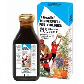 Σιρόπι Φυσικό Πολυβιταμινούχο με Ασβέστιο & Βιταμίνη D, Power Health Kindervital 100% , 250ml