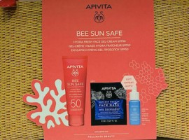 Apivita Πακέτο Προσφοράς Bee Sun Safe Νεσεσέρ με Hydra Fresh Face Gel Cream SPF50 Ενυδατική Κρέμα-Gel Προσώπου, 50ml & Aqua Beelicious Booster, 10ml & Express Beauty Face Mask Sea Lavender, 2x8ml