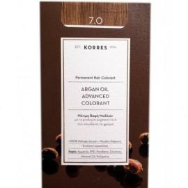Korres Argan Oil Advanced Colorant Μόνιμη Βαφή Μαλλιών 7.0 Ξανθό Φυσικό 50ml
