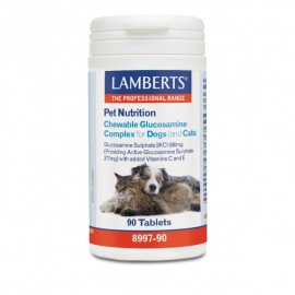 Lamberts Pet Nutrition Chewable Glucosamine Complex Cats & Dogs, Συμπληρωματική Ζωοτροφή για Σκύλους και Γάτες, 90 Ταμπλέτες (8997-90)
