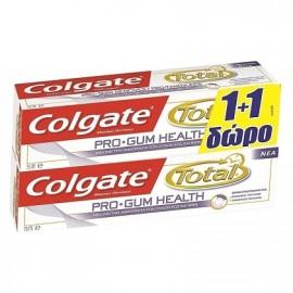 Colgate Πακέτο Προσφοράς Total Pro Gum Health Φθοριούχος Οδοντόκρεμα για την Καταπολέμηση της Ουλίτιδας & της Αιμορραγίας, 2x75ml
