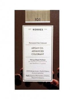 Korres Argan Oil Advanced Colorant Μόνιμη Βαφή Μαλλιών 10.1 Ξανθό Πλατίνας Σαντρέ 50ml