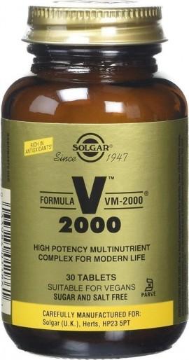 Solgar Formula VM-2000, Φόρμουλα Πολυβιταμίνης για Ενέργεια & Τόνωση, 30 Ταμπλέτες