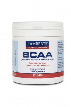 Lamberts BCAA (Branch Chain Amino Acids) Συμπλήρωμα Διατροφής για τα Άτομα που Αθλούνται Έντονα, 180caps (8332-180)