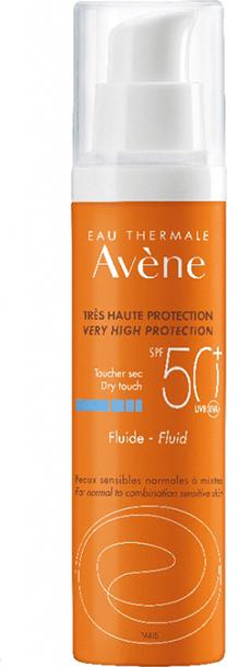 Avene Solaire Fluide SPF50+, Αντηλιακή Λεπτόρρευστη Κρέμα Προσώπου για Μικτή/Λιπαρή Επιδερμίδα, 50ml