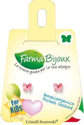 Farma Bijoux Σκουλαρίκια Ροζ Πεταλούδα 5mm, 1 Ζευγάρι