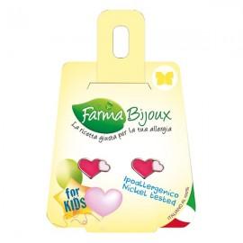 Farma Bijoux Σκουλαρίκια Φούξια Ροζ Καρδιά 10mm, 1 Ζευγάρι