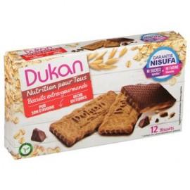 Dukan Μπισκότα βρώμης με επικάλυψη σοκολάτας, 12 τεμάχια