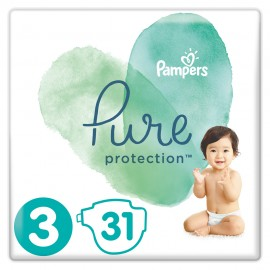 Pampers Pure Protection No.3 (6-10kg) Πάνες, 31 τεμάχια